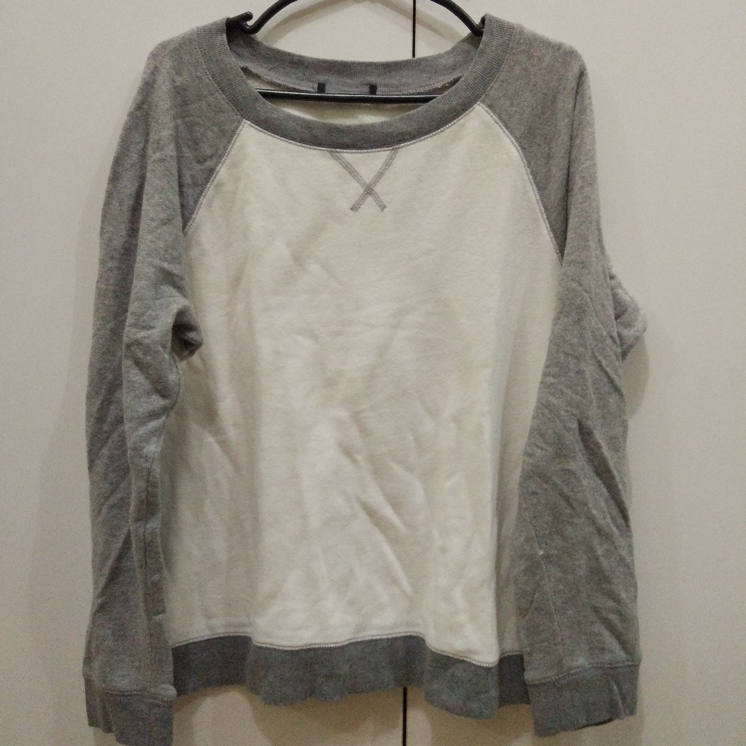 Forever 21 White / Grey Sweater
