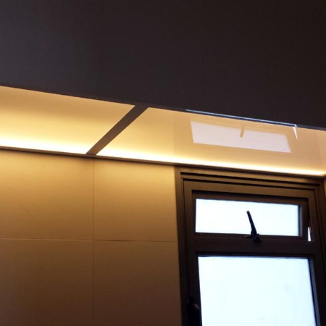 Frosted acrylic panels cover for lighting diffuser bto