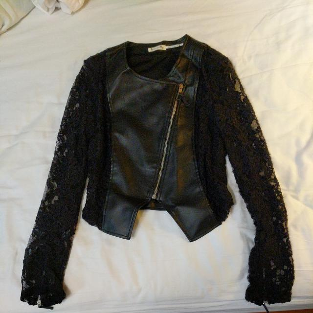 Lace and Leather Jacket