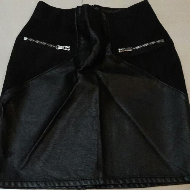 Leather skirt From H&M