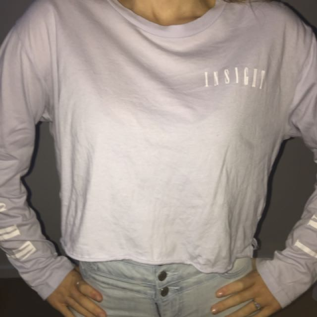 long sleeved lilac crop