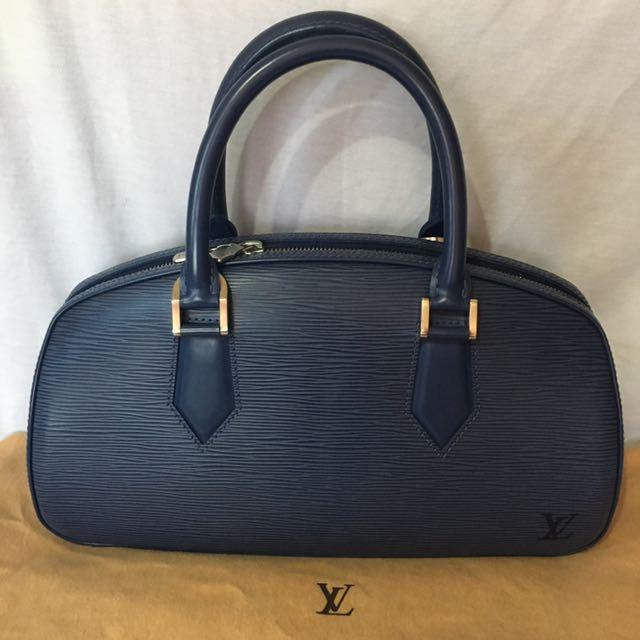 LOUIS VUITTON MYRTILLE BLUE EPI LEATHER JASMINE BAG | NO NEGO!