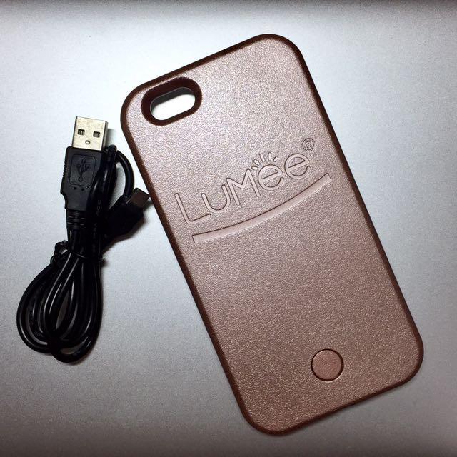 LUMEE LED 補光手機殼 iPhone 6/6S 玫瑰金