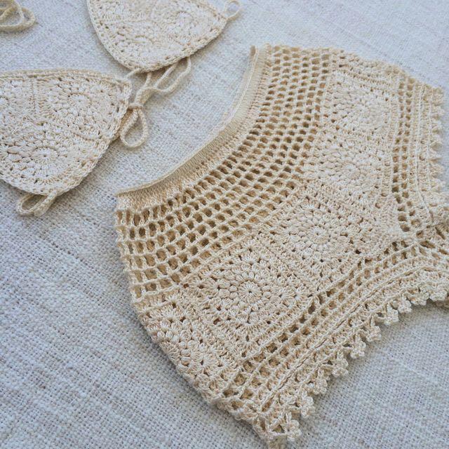 Lux Bikini Shorts Crochet Set Handmade