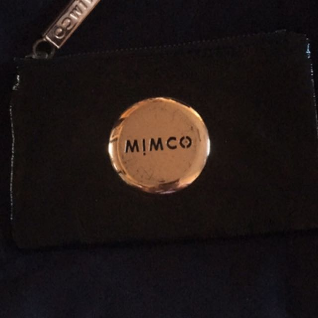 Mimco Black Rose Gold Pouch
