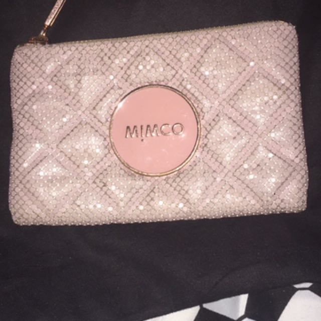 Mimco Pink Mesh Pouch