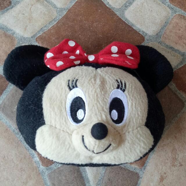 Minnie mouse head coin purse
