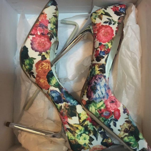 Miss Selfridge floral Heels
