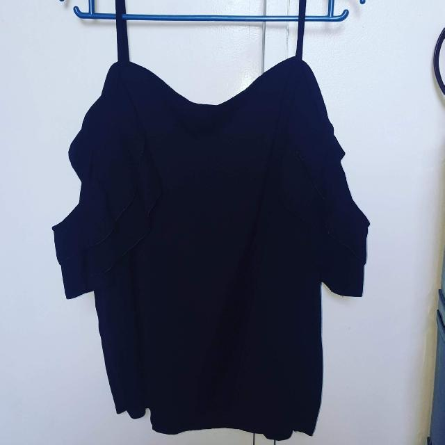 Navy Blue Party Blouse