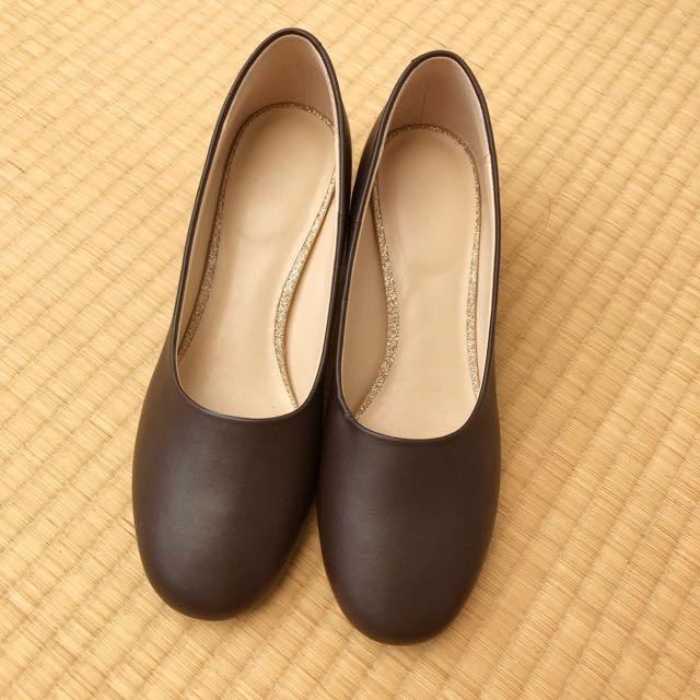 OL氣質復古芭蕾舞粗跟高跟鞋