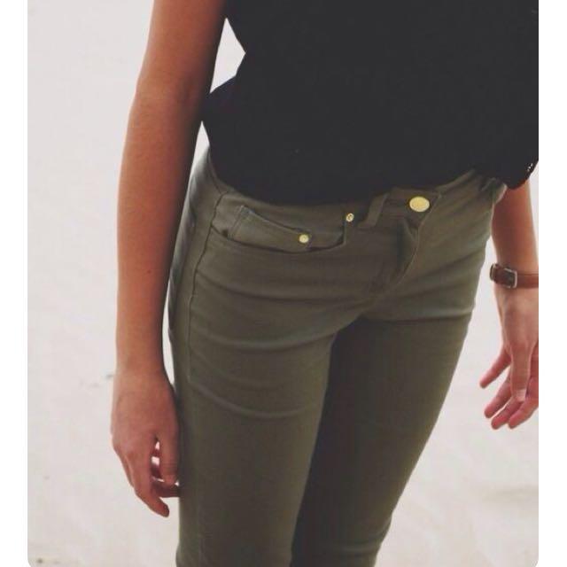 Olive green - skinny