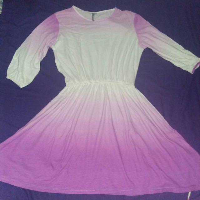 ombre sheath mini dress