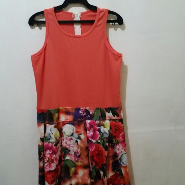 Orange Dress(stretchable)