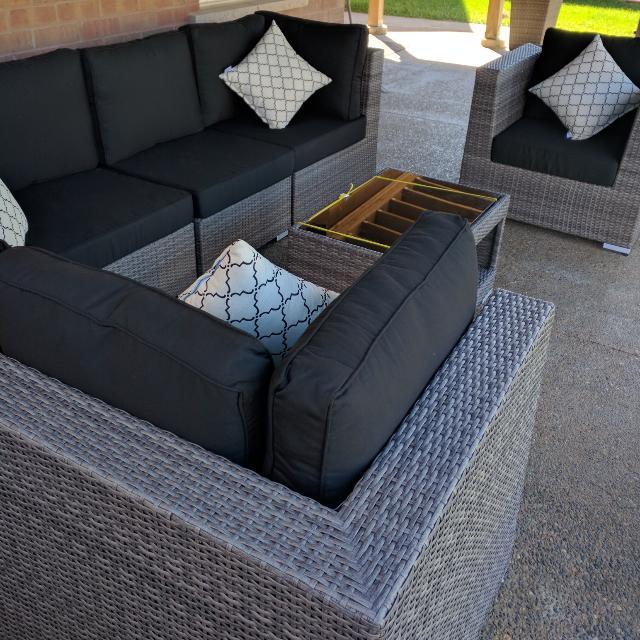 Outdoor Modular Patio Furniture Sectional Sofa Set 8 Piece