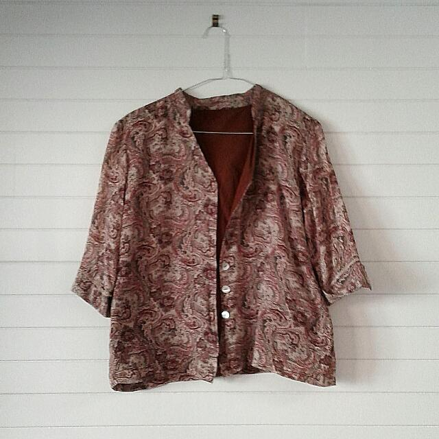 Patterned Button-Up Shirt