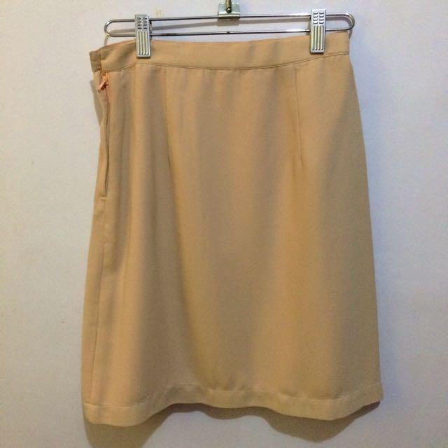 Peach High-Waist Skirt