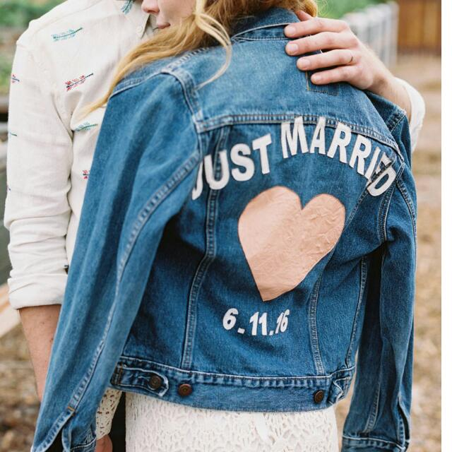 ac38a9db0e8 Personalised Name And Wedding Date Jeans Jacket Outerwear