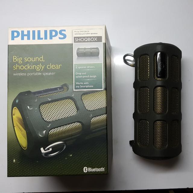 Authentic Philips SHOQBOX Wireless Portable Speaker