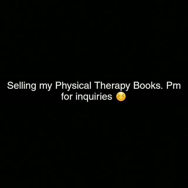 Physical Therapy Books (Read Description Please) :)