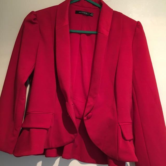 Portsman Red Blazer - AUS 6