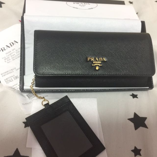 Prada Saffiano Leather Flap Wallet