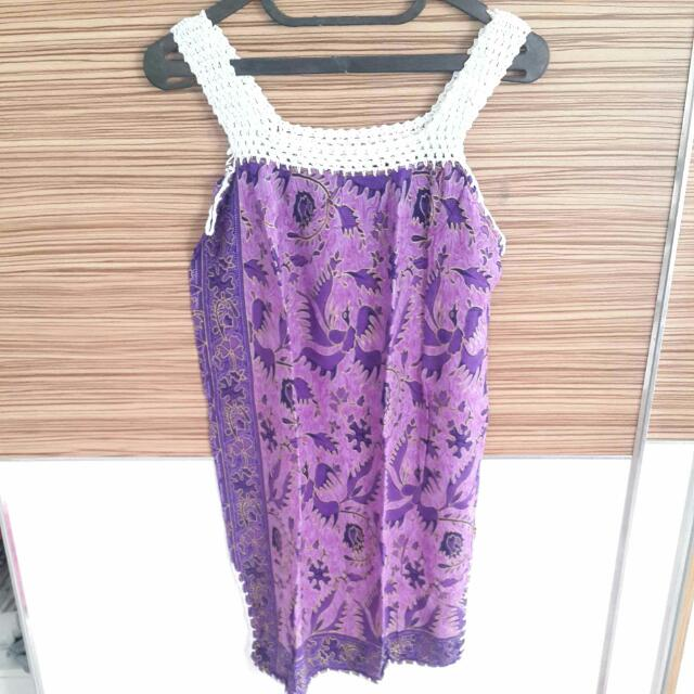 Preloved Purple Batik Top