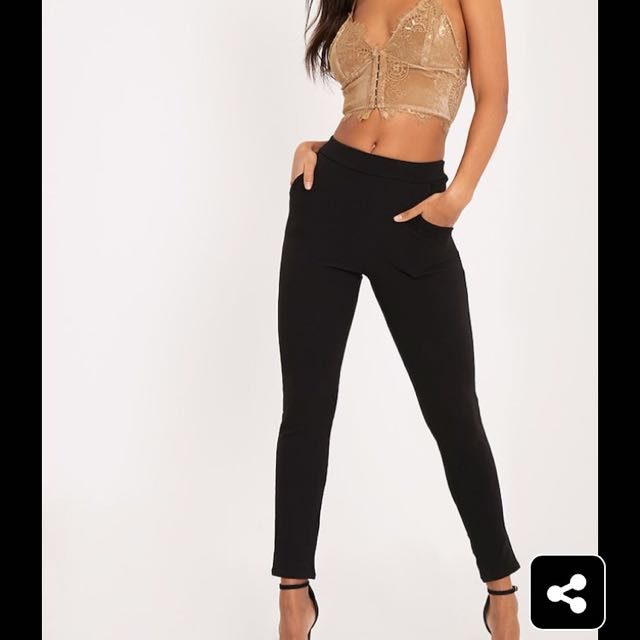 Pretty Little Thing Black Trousers
