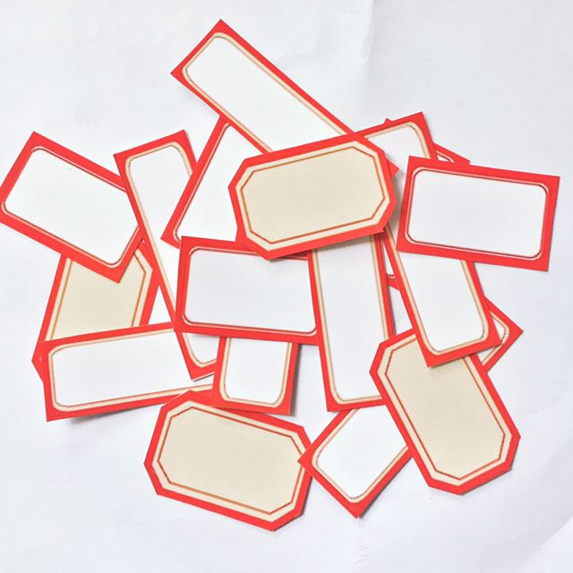 Red Label Stickers