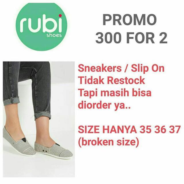 Rubi Slip On/Sneakers Spesial Price 300rb For 2!!