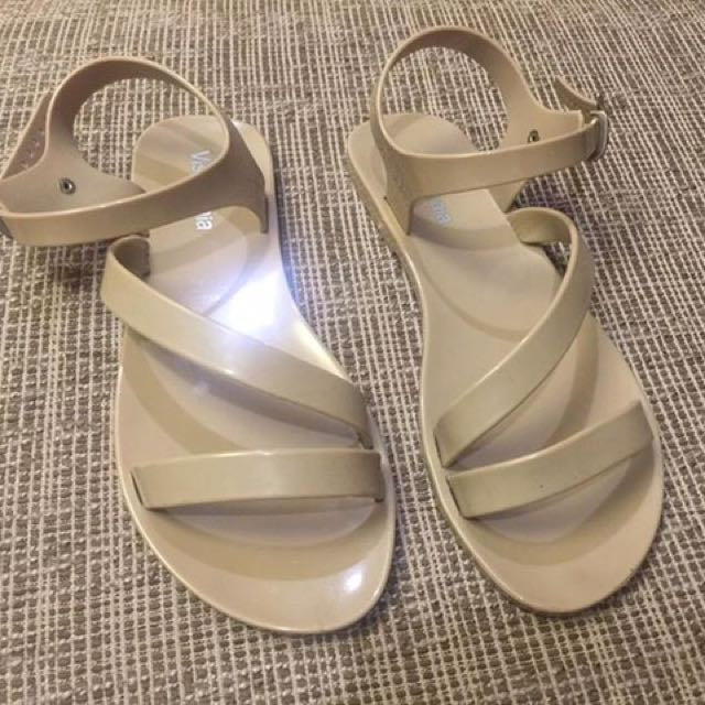 Skintone jelly sandals