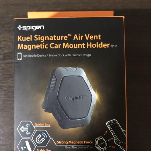 finest selection 29153 28c05 Spigen Kuel Signature QS11 Air Vent Magnetic Car Mount