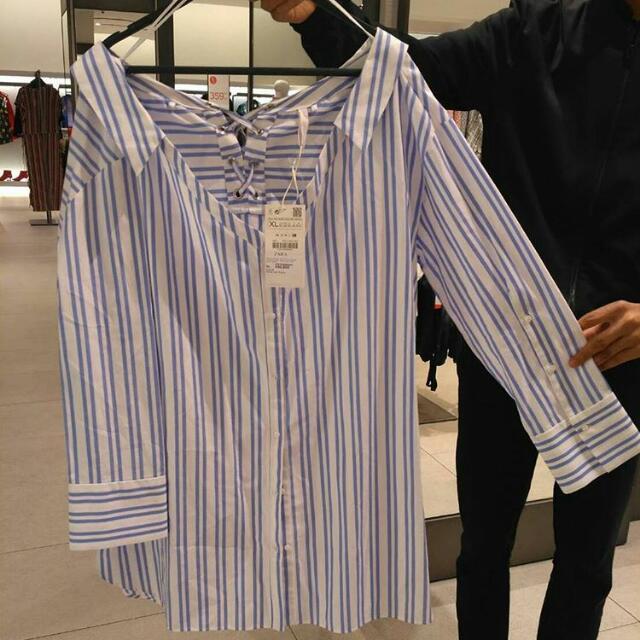 Stripe Blouse Zara Women