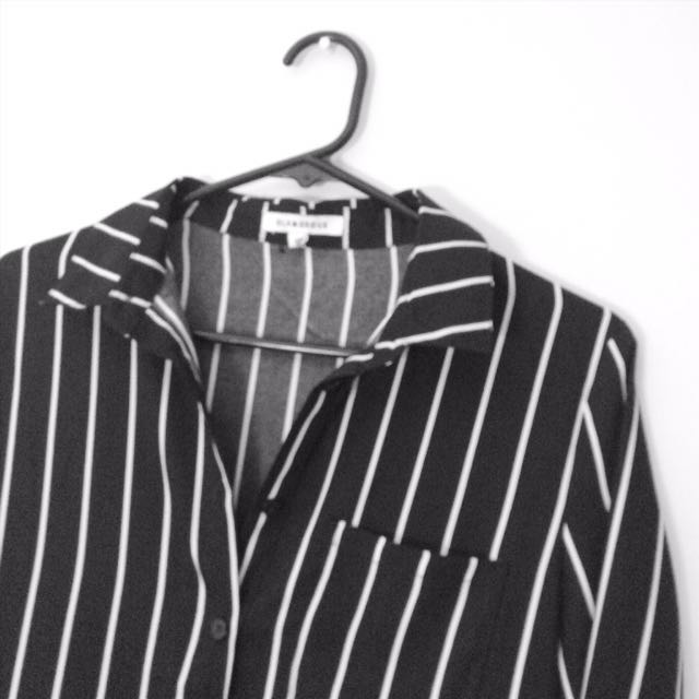 Striped Button Up Dress Shirt