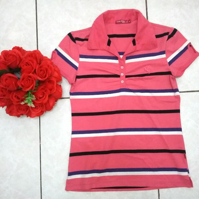 Striped Pink Polo Shirt