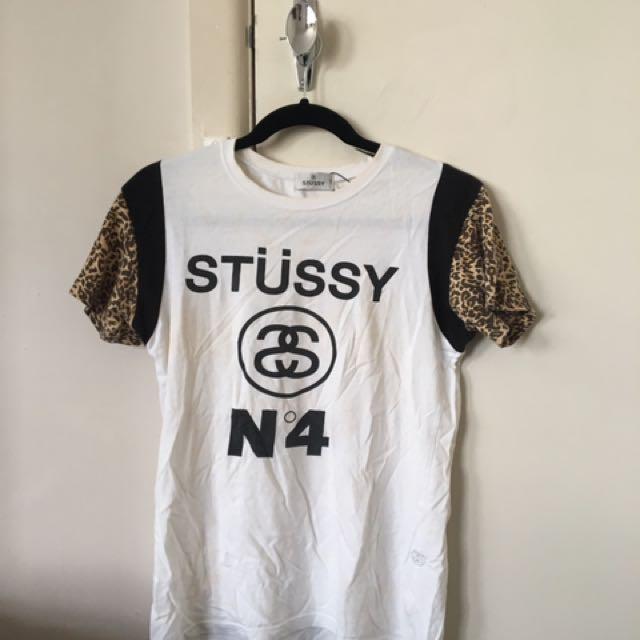 Stussy Tee - Cheetah Sleeve