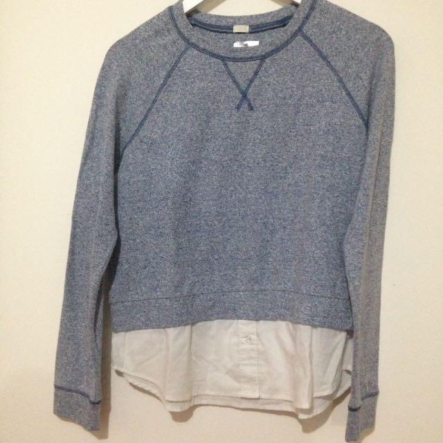 Sweater UNIQLO Biru