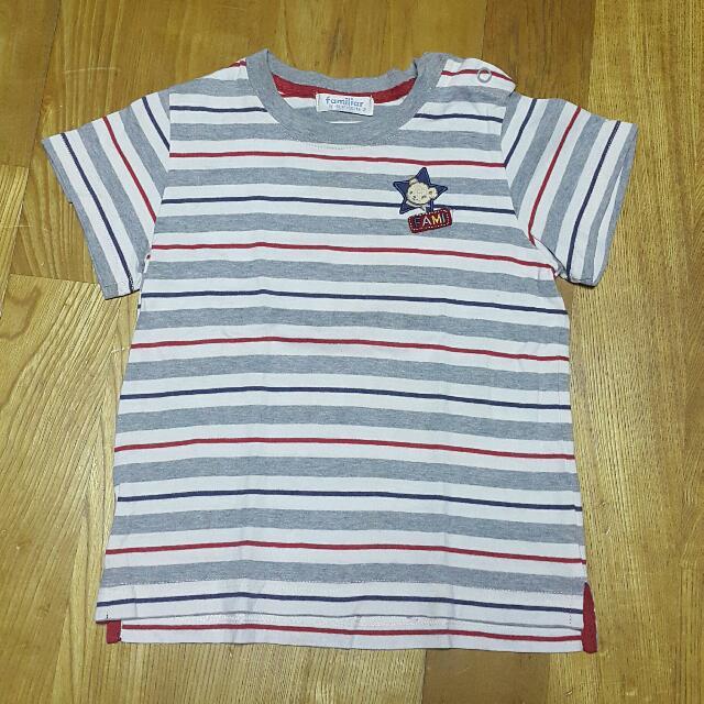 麗嬰房條紋T恤男童短袖上衣