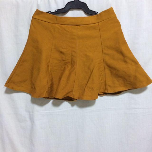 Tan/orange/mustard Skirt
