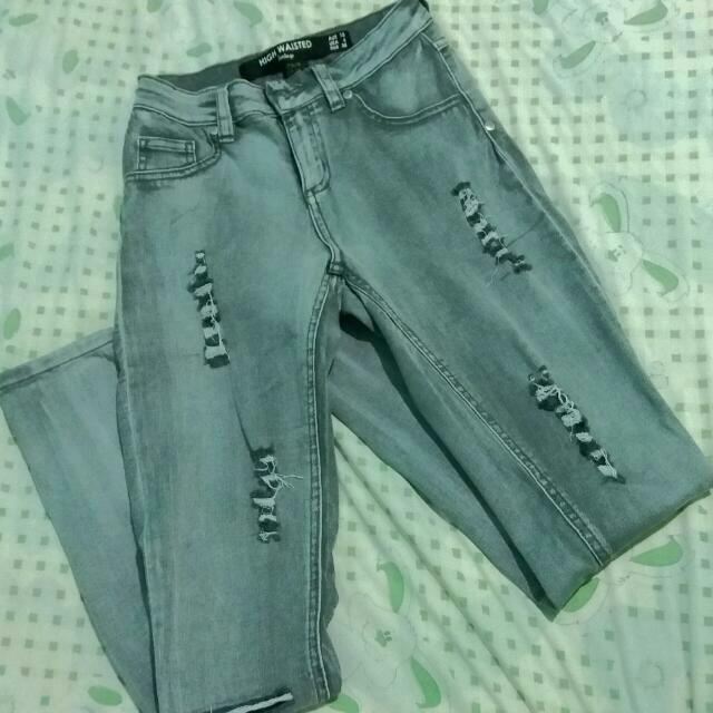 Tattered Jeans (High Waisted)