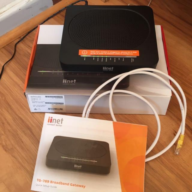 TG-789 IINET Modem/ Wifi Router