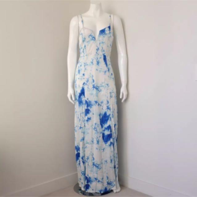 Tie Dye Maxi Dress XS S M 8 6 10