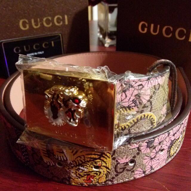 Tiger Print Gucci Belt