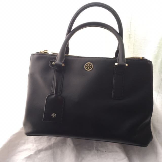 Tori Burch Black (100% Ori & 100% Saffiano Leather)
