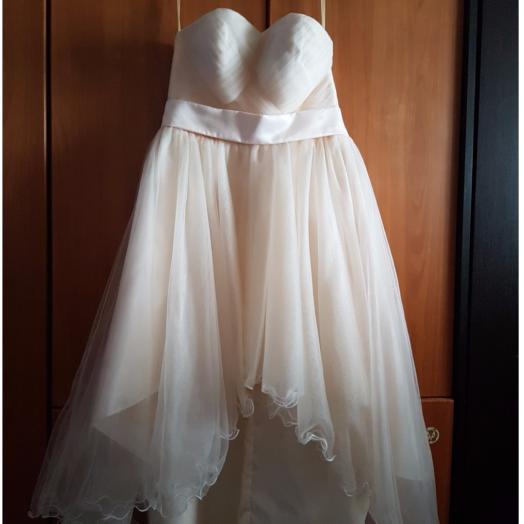 WTS champagne gold wedding gown, Women\'s Fashion, Clothes, Dresses ...