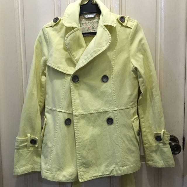 Yellow Trench Coat Jacket (Repriced)
