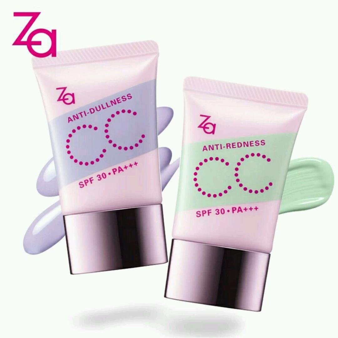 Za color match shield cc cream anti dullness spf 30 health beauty makeup on carousell