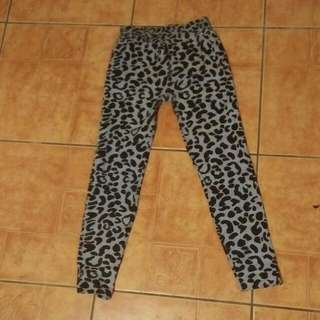 Gray and Black Leopard leggings