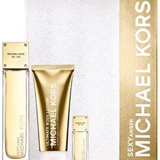 NEW! EXCLUSIVE Michael Kors Sexy Amber 3 Piece Set