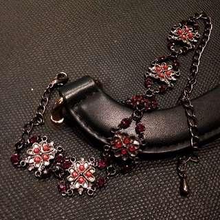 Red Jeweled Choker