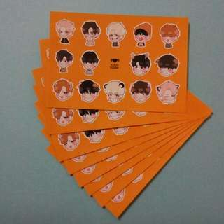 BTS防彈少年團 韓站飯繪貼紙